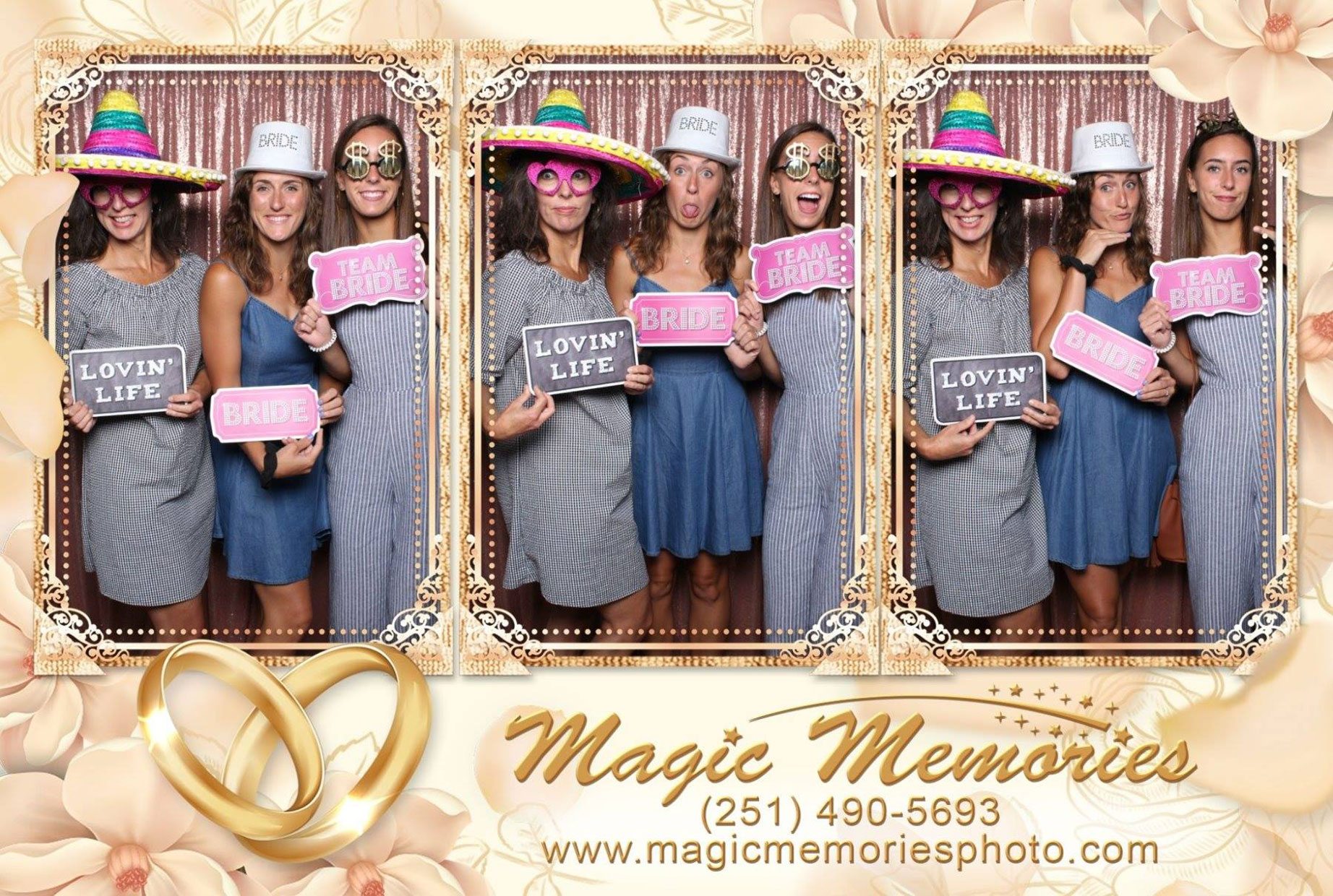 Bridal show photo booth