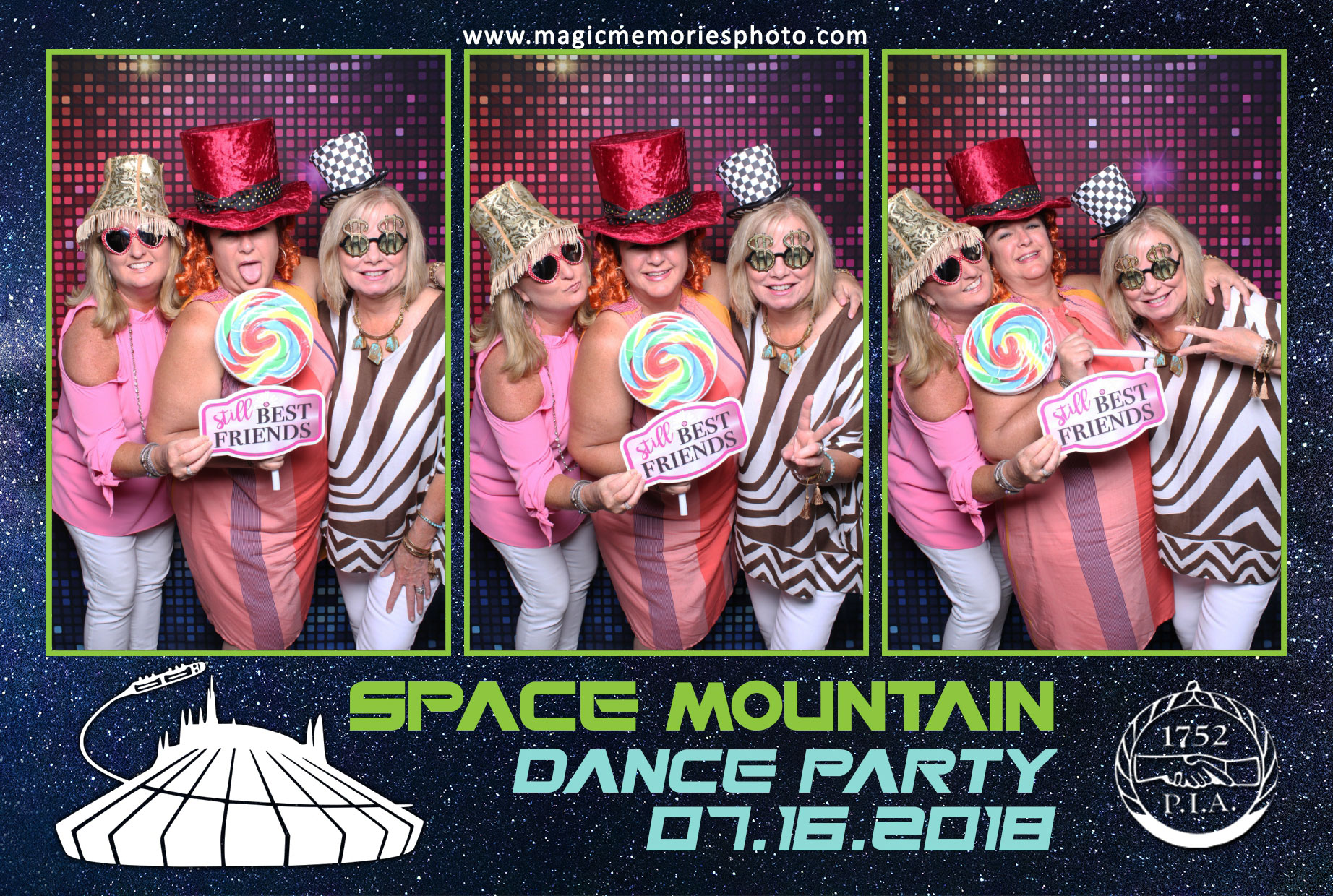 Fun photo booth for corporate party