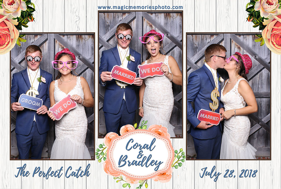 Coral and Bradley's Wedding Photo Booth Rental | Spanish Fort AL